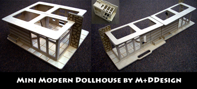 Mini Modern Dollhouse
